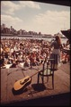 FOLK MUSIC AT SOUTH STREET SEAPORT ON THE EAST RIVER, NEAR BROOKLYN BRIDGE IN LOWER MANHATTAN, DRAWS ENTHUSIASTIC CROWDS - NARA - 551709.tif