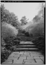 FORSYTHIA WALK AFTER WIDENING Photocopy of photograph, date unknown National Park Service, National Capital Region files - Dumbarton Oaks Park, Thirty-second and R Streets Northwest, HABS DC,GEO,175-6.tif
