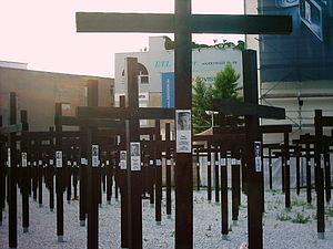 Killing of Peter Fechter - Peter Fechter memorial cross at Checkpoint Charlie