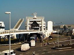 Færgelejet i Puttgarden.   Oktober 2005.