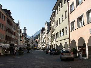 Feldkirch, Vorarlberg - Image: Feldkirch marktplatz