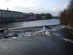 Fermoy - The weir on the Munster Blackwater through Fermoy