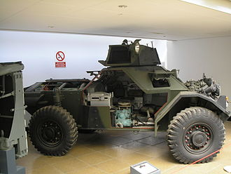 Ferret armoured car - The interior of a Ferret on display at Imperial War Museum Duxford