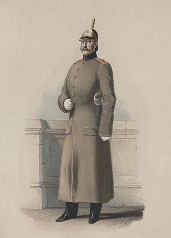 Портрет Николая I в походной шинели Лейб-гвардии Конного полка. 1854.