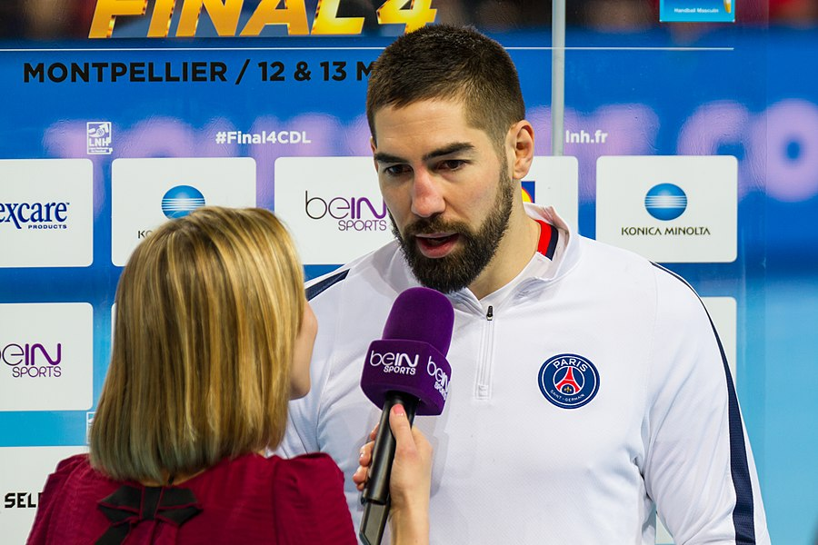 Semi-finale of the Handball League Cup, between Fenix Toulouse and PSG: Nikola Karabatić addresses beIN Sports sideline reporter.