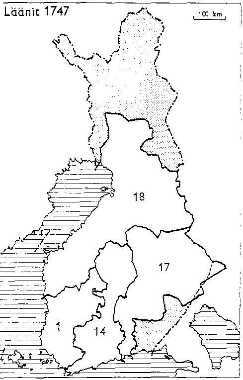 Finnish counties 1747