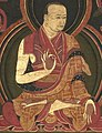 First Sangye Nyenpa (teacher of the Eighth Karmapa, Mikyo Dorje), art dates to 1570's or 1580's, Eighth Karmapa, Mikyo Dorje (1507-1554) and his teacher the First Sangye Nyenpa (cropped).jpg