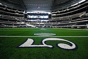 Fitty yard line at Cowboys Stadium