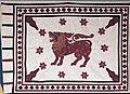 Flag of Sri Lanka as displayed in Germany in 1960, Bundesarchiv B 145 Bild-F007554-0012, Beethovenhalle Bonn, Empfang Botschaft von Ceylon (cropped).jpg