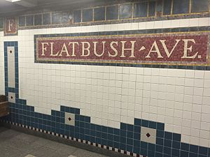 Flatbush Avenue–Brooklyn College (IRT Nostrand Avenue Line) - Station tilework