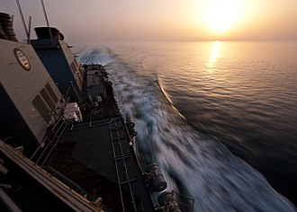 Strait of Hormuz - Image: Flickr Official U.S. Navy Imagery USS Porter transits the Strait of Hormuz