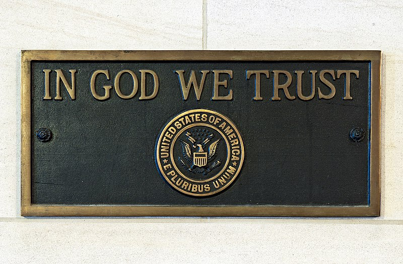 In God We Trust Plaque US Capitol Executive Office Of The President United States Public Domain Wikimedia Commons