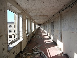 "Prora - Corridor in building ""Nordflügel 1"", 4th level (2011)"