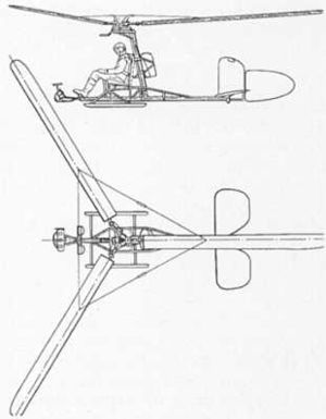 Focke-Achgelis Fa 330 - Drawing from U.S. recognition manual (very likely copy of German drawing).