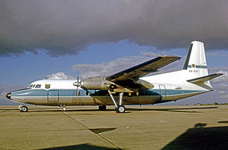 Department of Civil Aviation (Australia) - Fokker F.27 Friendship of the Australian DCA at Melbourne's Essendon Airport in 1970