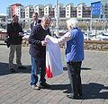 Folding the Jersey flag 2011 8.jpg