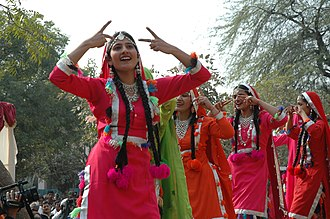 Giddha - Folk dancers from Punjab performing at six-day Folk Dance Festival 'Lok Tarang, in New Delhi on January 19, 2007
