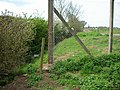 Footpath and fences - geograph.org.uk - 225184.jpg