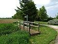 Footpath and footbridge by Falls Farm - geograph.org.uk - 443768.jpg