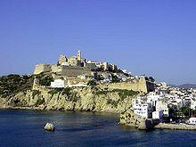 Centro storico della città di Ibiza.
