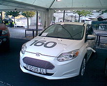 Ford Focus Electric At A Car Festival In Sweden With Claimed Range Of 160 Km 99 Miles
