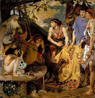 """Coat of many colors -  Ford Madox Brown, The Coat of Many Colours; some have suggested that the phrase may merely mean a """"coat with long sleeves"""""""