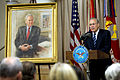 Former Secretary of Defense Donald H. Rumsfeld addresses the audience during his portrait unveiling ceremony at the Pentagon June 25, 2010 100625-D-JB366-021.jpg