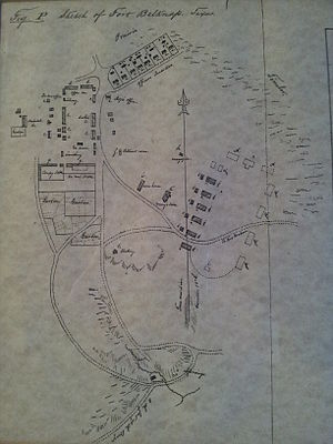 Fort Belknap (Texas) - Image: Fort Belknap 1853 map by Lt. Col. W.G. Freeman