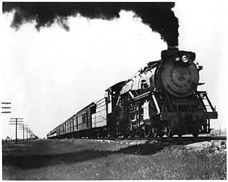 Fort Worth and Denver Railway - The Fort Worth and Denver's Colorado Special rolls through the Texas Panhandle, 1929.