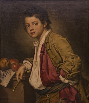 Fra Galgario -  Young boy with apples