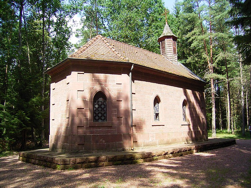 Apse of the chapel Notre-Dame-des-Bois  in Erbsenthal, next to Eguelshardt, Moselle, France