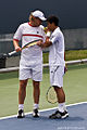 Frank Moser and Yen-hsun Lu at the 2009 Indianapolis Tennis Championships 01.jpg