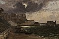 Franz Ludwig Catel - From the Harbour at Naples. Gathering Storm - KMS1089 - Statens Museum for Kunst.jpg