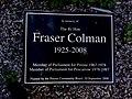 Fraser Colman Plaque.jpg