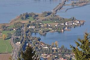 Freienbach–Hurden Rosshorn - The site of the prehistoric settlement