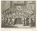 Frederik Hendrik neemt als stadhouder zitting in de Staten van Holland, 1625 Frederic Henric Prince van Orange, doet zyn Eedt als Stadthouder op de Rolle (titel op object), RP-P-OB-81.131.jpg