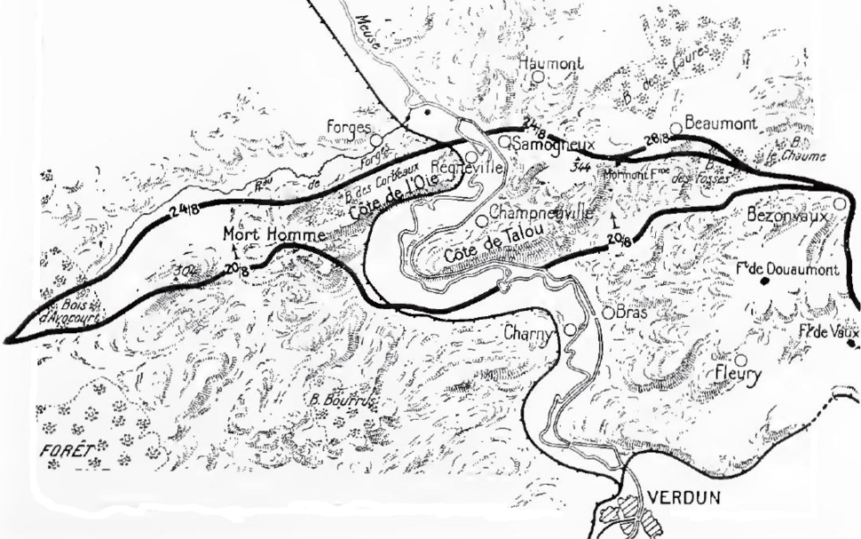French attack at Verdun, August 1917