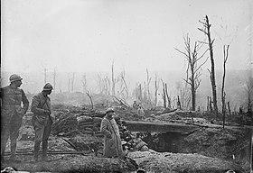 Une tranchée française en 1916