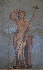Bacchus on blue background