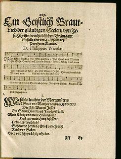 Wie schön leuchtet der Morgenstern chorale by Philipp Nicolai