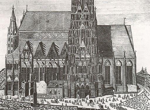 Friedhof beim Stephansdom Wien ca 1700