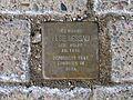 Fritzenwiese 48, 48 F, Celle, auf dem Bürgersteig zum Abzweig zum Parkhaus Nordwall, Stolperstein Else Dessau, geborene Wolff, Jahrgang 1898, deportiert 1941, ermordet in Riga.jpg