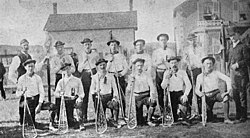 """Richmond Hill """"Young Canadians"""" lacrosse team, 1885."""
