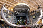 Front end of a Bristol Air Freighter with folding helicopter in its hold (6016222111).jpg
