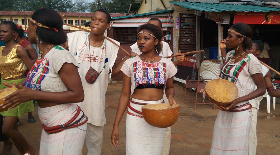 Fulani traditional dance costume