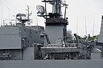 Funnel of JS Nichinan(AGS-5105) left rear view at JMSDF Yokosuka Naval Base April 30, 2018 01.jpg