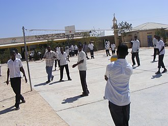 Badhan, Sanaag - Scene of Alfurqan High School in Badhan