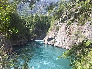 Futaleufú River - Entrance to Infierno Canyon on the Futaleufu