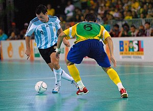 Futsal - International futsal match between Argentina and Brazil in 2007