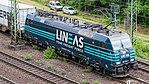 Güterzug mit Railpool-Lokomotive, Lineas-Lackierung, Köln-6680.jpg